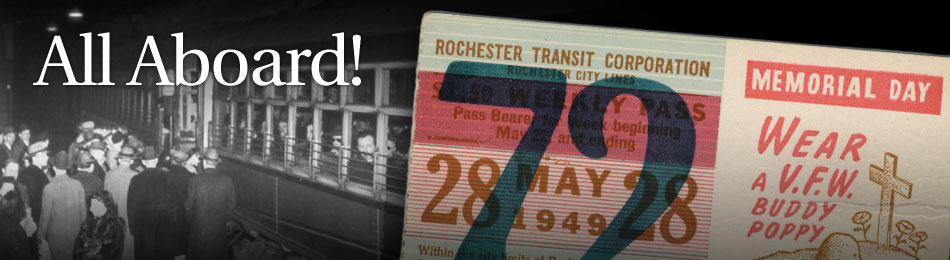 Original Bus & Trolley Weekly Transit Pass, Rochester Transit Corporation, 1949
