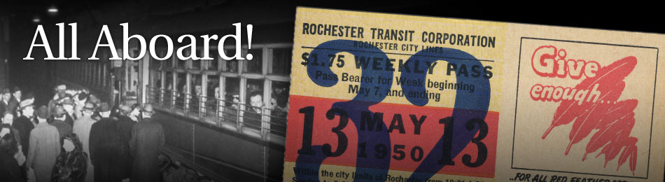 Original Bus & Trolley Weekly Transit Pass, Rochester Transit Corporation, 1950