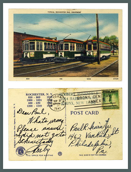 Typical Rochester Rail Equipment, Vintage Postcard (Rollover the image to zoom)
