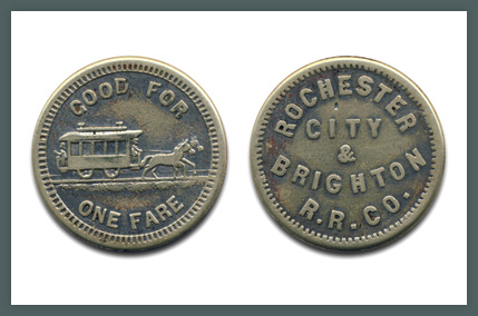 Token, Rochester Transit Corporation, Issued 1948