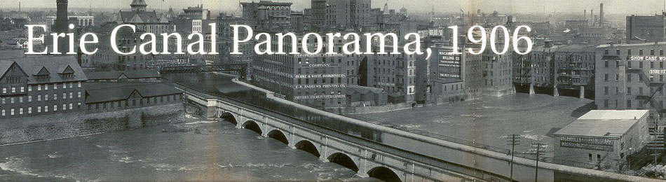Old Panoramic Photo of Rochester's Erie Canal and Genesee River, 1906.