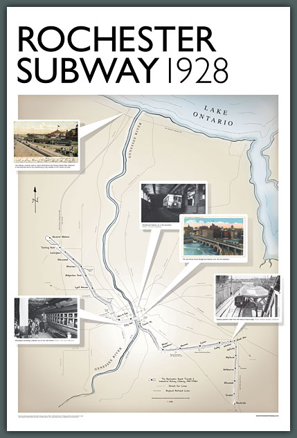 "Rochester Subway Poster (24""x36"")"
