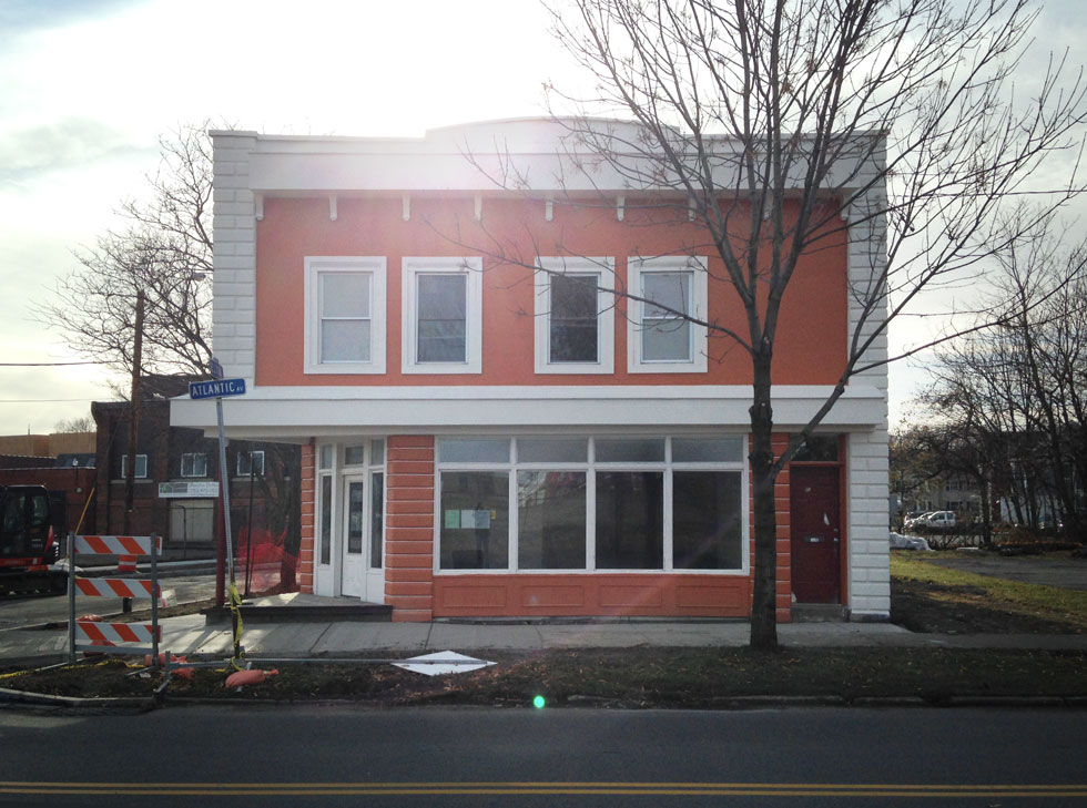179 Atlantic Avenue has been completely overhauled inside and out. The building is nearing completion and almost ready for occupants sometime around the new year. [PHOTO: Steve Vogt]