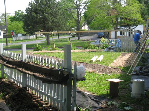 This community garden near Rochester's Public Market was started by Brian Pettit and his partner Eugene. It has been dubbed '2nd Chance Central Park' because of its location, its rejuvenating impact on the neighborhood, as well as the recycled materials in use.