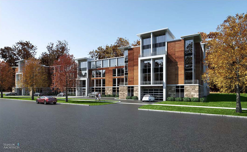 Initial proposed design for apartment complex at 933 University Ave.