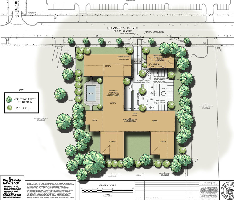 933 University Ave. plan view.