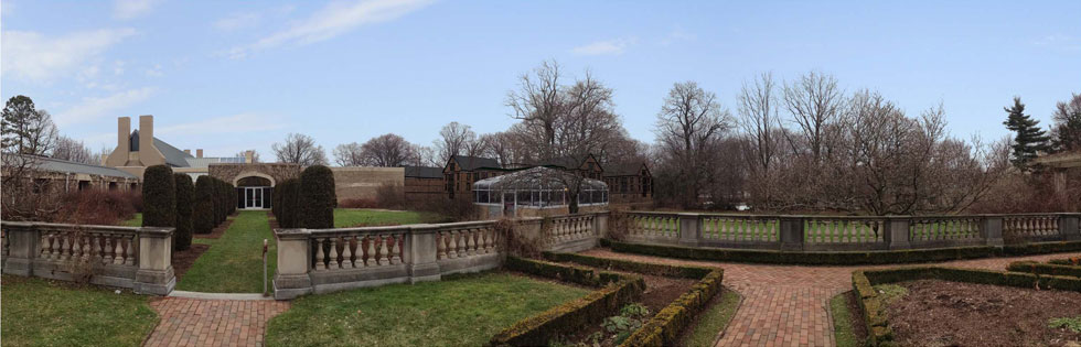 View of proposed development as would be seen from the Eastman House gardens.
