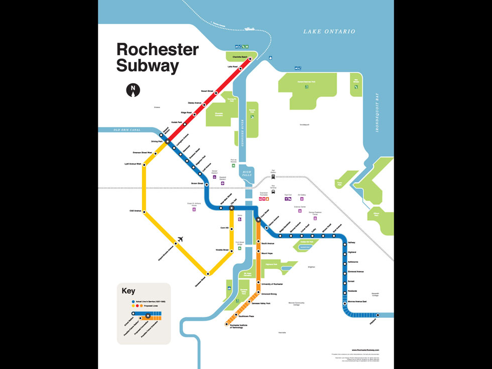 Rochester subway 'fantasy' map.