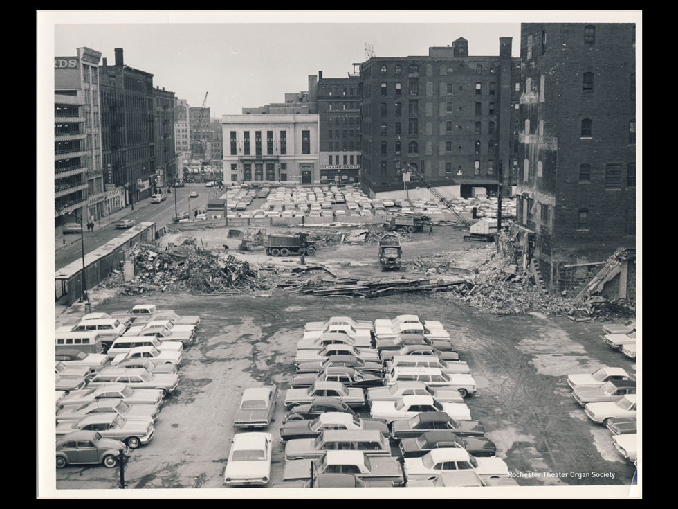 The site of the old R.K.O. Palace theater. Everyone loved it. But we loved our cars more.