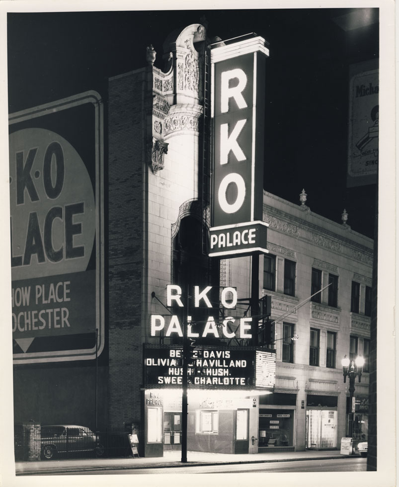 Rochester's RKO Palace Theater prior to demolition. Main entrance on Clinton Ave. 1964. The theater originally opened on December 25, 1928 as