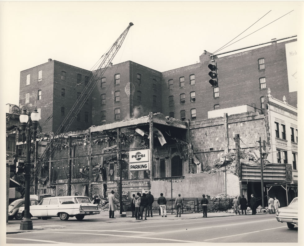Benvenuto Wrecking Co. demolished the RKO Palace as well as hundreds (maybe thousands) of other buildings in the city of Rochester. [PHOTO: D.O. Schultz / Rochester Theater Organ Society]
