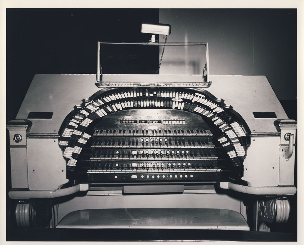 The Rochester Theater Organ Society saved this Wurlitzer organ from the RKO Palace before demolition. It is now located at the Auditorium Theater on Main Street. [PHOTO: D.O. Schultz / Rochester Theater Organ Society]