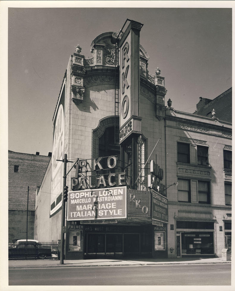 Clinton Ave. entrance and marquee. 1964. [PHOTO: D.O. Schultz / Rochester Theater Organ Society]