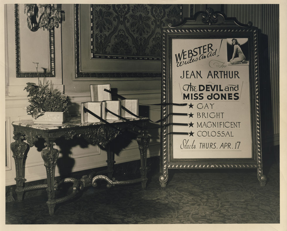 Information board in the front lobby. 1941. I THINK this is now located in the Auditorium Theater on Main Street. [PHOTO: D.O. Schultz / Rochester Theater Organ Society]