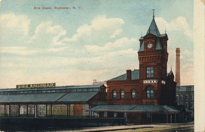 Erie Railroad Depot. (looking from Court Street Bridge).
