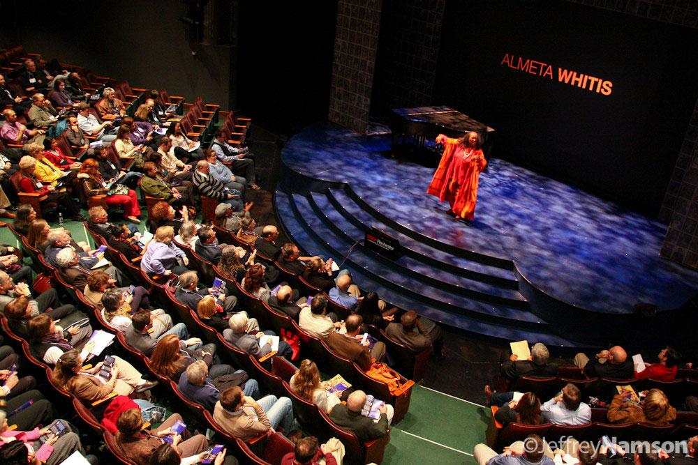 Almeta Whitis, Author & Storyteller at TEDxRochester 2010. [PHOTO: Jeffrey Namson]
