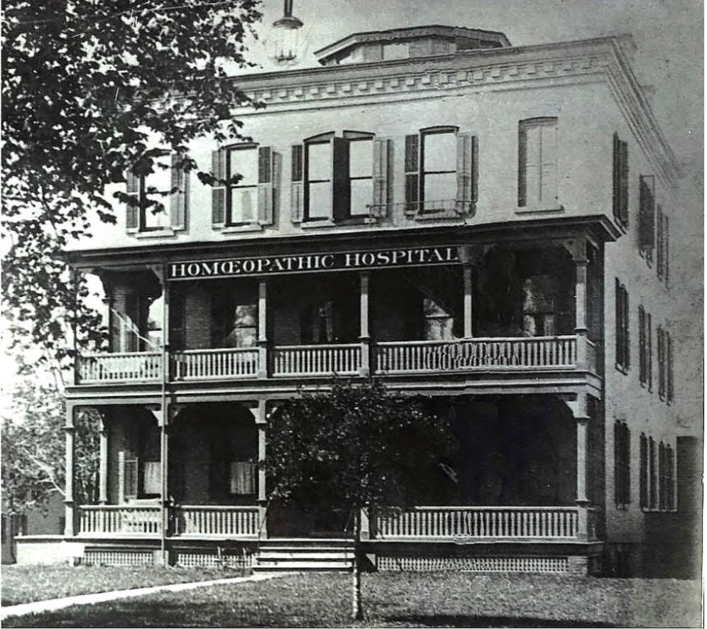 The First Location of the Rochester Homeopathic Hospital [PHOTO: NyHeritage.org]
