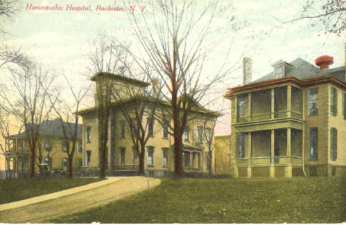 The Rochester Homeopathic Hospital after relocating to 224 Alexander Street in 1894. [PHOTO: NyHeritage.org]