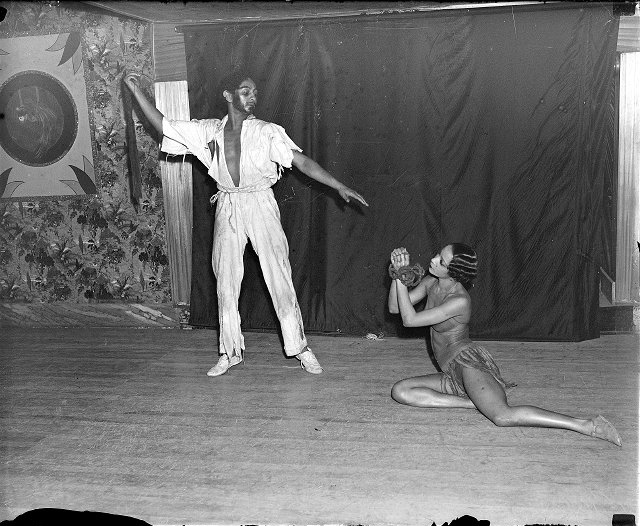 African-American dancers among the performers at Bardos' Inn in Gates, N.Y. c1930-1935 [PHOTO: Albert R. Stone Collection]