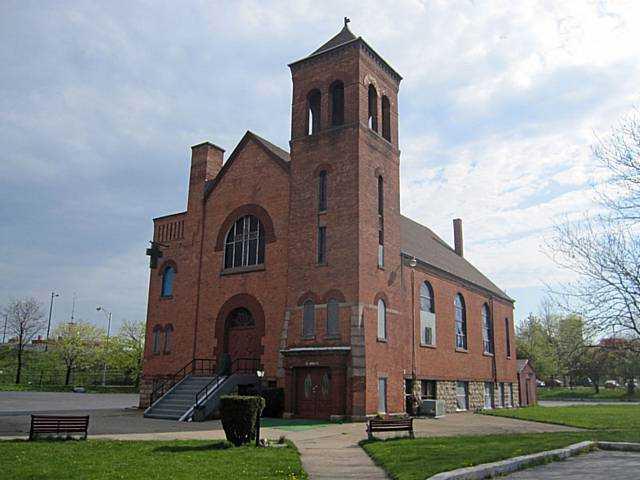 The African Methodist Episcopal Zion Church at 42 Favor Street in the Cornhill Neighborhood. [PHOTO: Nothnagle Realtors]