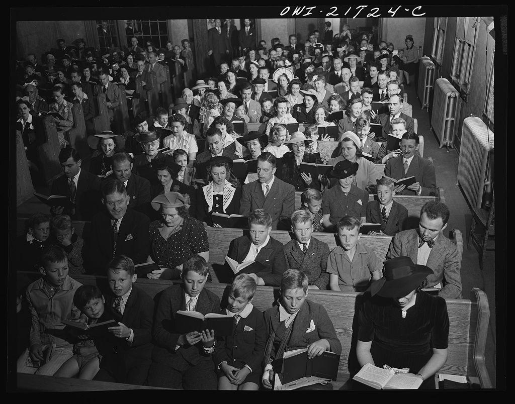 The Babcocks attend church every Sunday morning [PHOTO: Library of Congress]