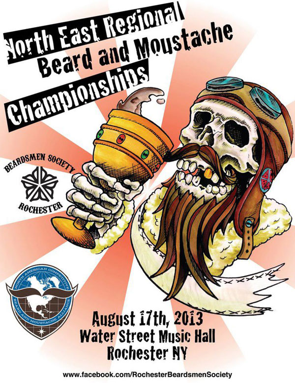 On Saturday, August 17th the Rochester Beardsmen Society  hosted the Northeast Regional Beard and Moustache Championships at Water Street Music Hall. [PHOTO: Chris Clemens]