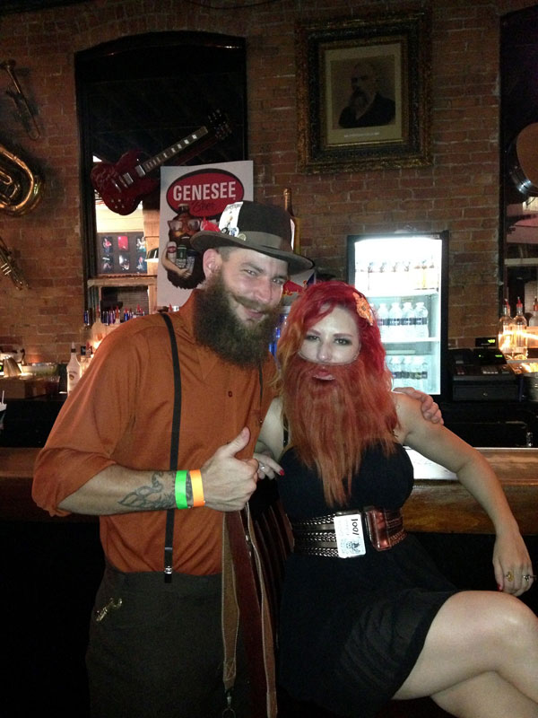 The competition included over 15 categories showing off everything from styled mustaches to chops to full blown freestyle beards and even fake beards. [PHOTO: Chris Clemens]