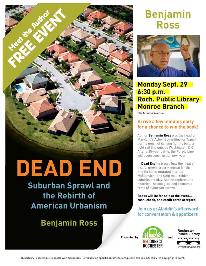 Benjamin Ross event flyer.