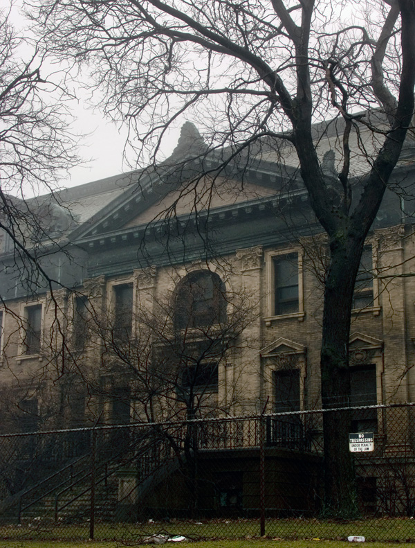 The demolished Bethlehem Steel North Office Building in Lackawanna, NY. [PHOTO: Chris Smart]