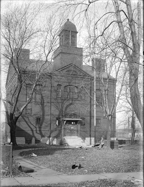This was 25 N. Winton Road, north of East Avenue. The building began as Brighton School District No. 2. and became the Brighton branch of the Rochester Public Library after the village was annexed by the City of Rochester. [PHOTO: Albert R. Stone Collection]