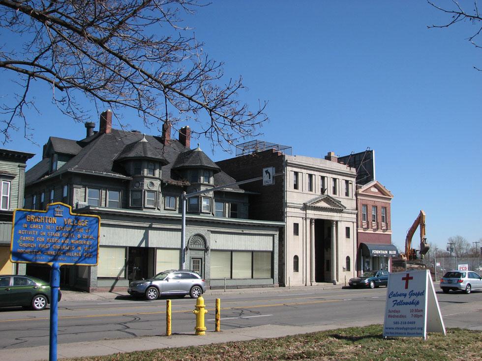 Former site of historic Brighton Village. March, 2010. [PHOTO: RochesterSubway.com]