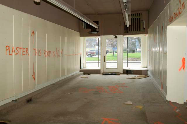 The interior of 1796 East Avenue... Former Cyrus Oriental Rugs. [PHOTO: Andy Olenick, Rochester Public Library]