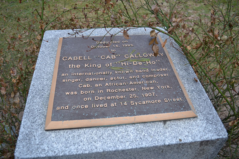 Monument to Cab Calloway in Otto Henderberg Square Park, Rochester NY. [PHOTO: RochesterSubway.com]