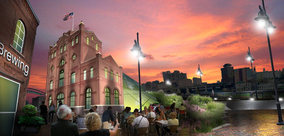 Imagine Rochester's Brewery Square. [RENDERING: RochesterSubway.com]