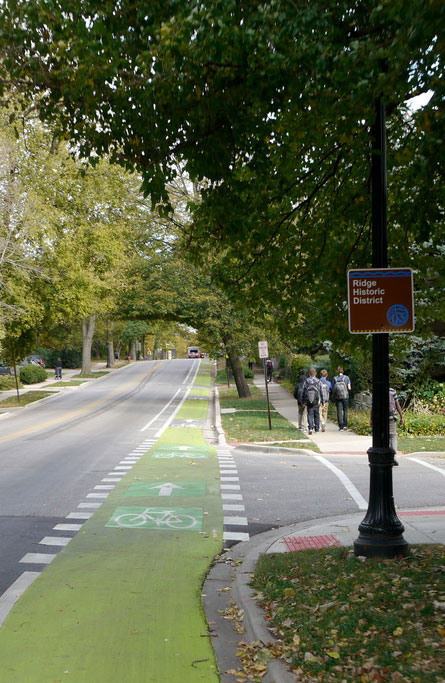 Chicago cycle tracks. [PHOTO: Steven Vance, Flickr]