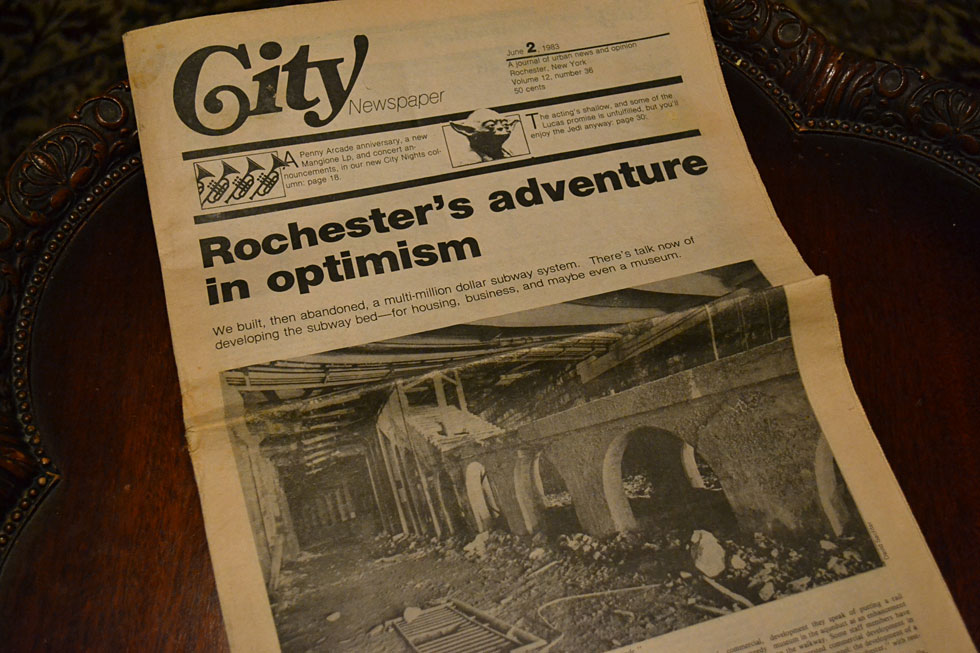 Cover of Rochester City Newspaper. June 2, 1983. [COURTESY: CITY Newspaper]