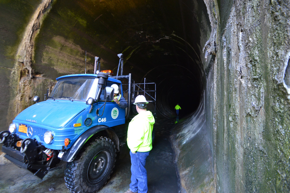 These tunnels are so wide you can literally drive a truck through them. And that's exactly what we're doing today. [PHOTO: RochesterSubway.com]
