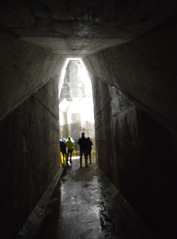The space opens up into a huge concrete chamber—like entering through the big arched doorway of a cathedral—and suddenly I'm having a religious experience. [PHOTO: RochesterSubway.com]