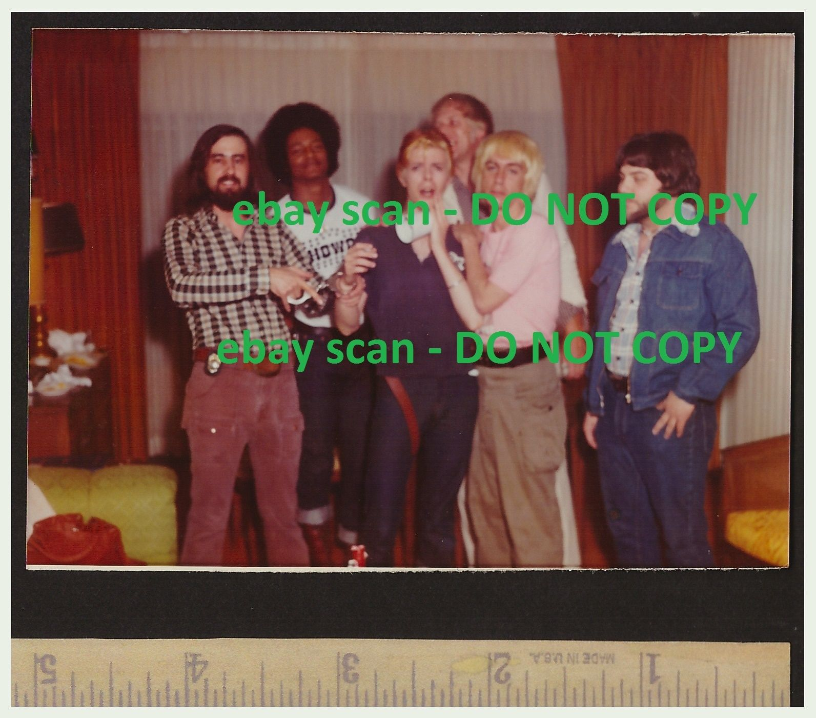 Photo of David Bowie arrest in Rochester NY for sale on eBay.