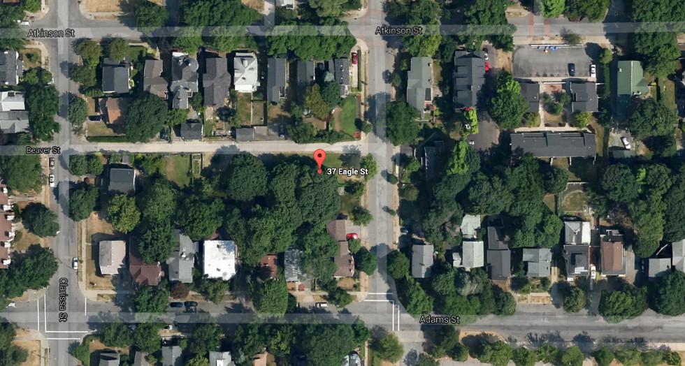 Satellite Photo of 37 Eagle Street, Rochester NY. [PHOTO: Google]