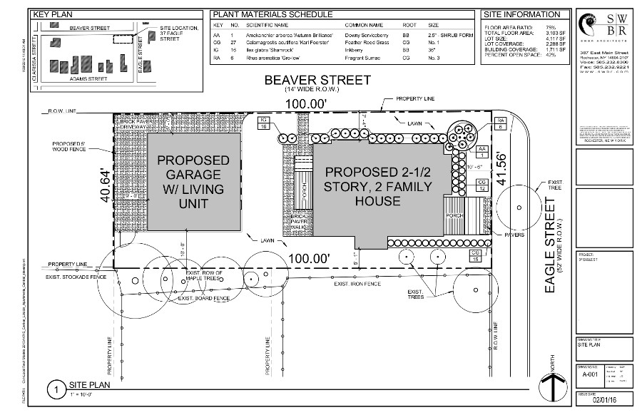 37 Eagle Street Final Site Plan