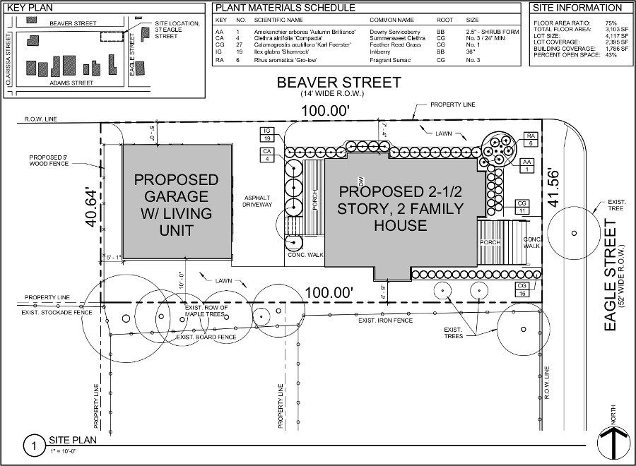 37 Eagle Street Site Plan