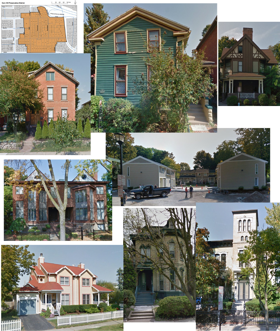 Corn Hill Historic District Montage