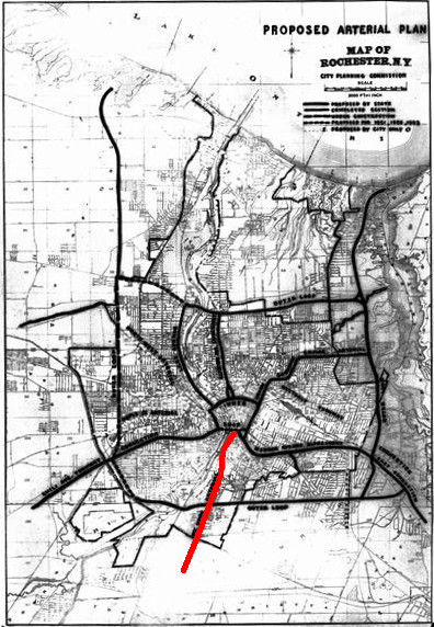 1947 Highway Plan for Monroe County, NY