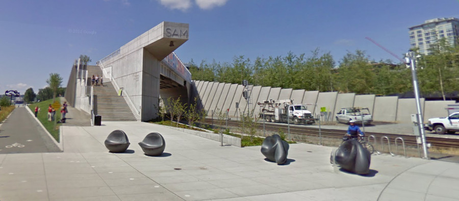 Seattle Art Museum Train Overpass [PHOTO: Google Streetview]