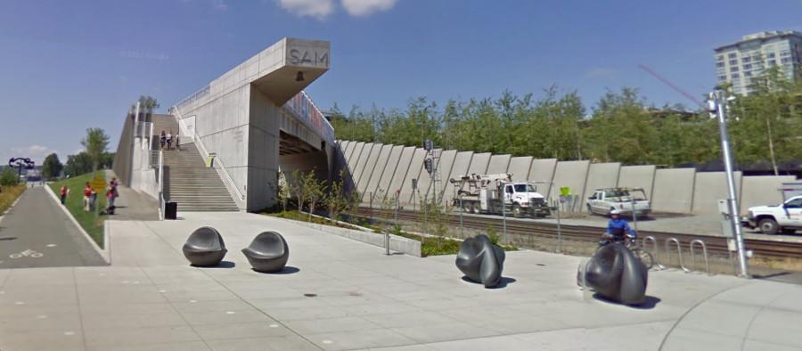 Seattle Art Museum Train Overpass [PHOTO: Google Streetview]