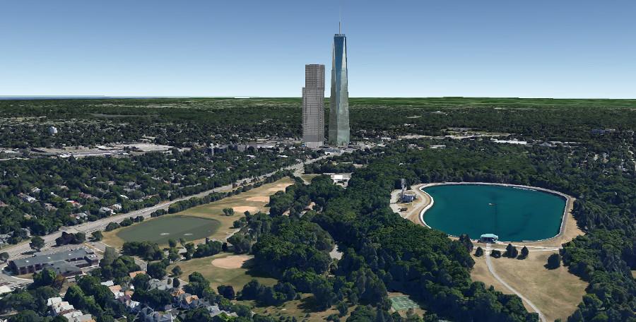 New Wegmans Development from Cobbs Hill