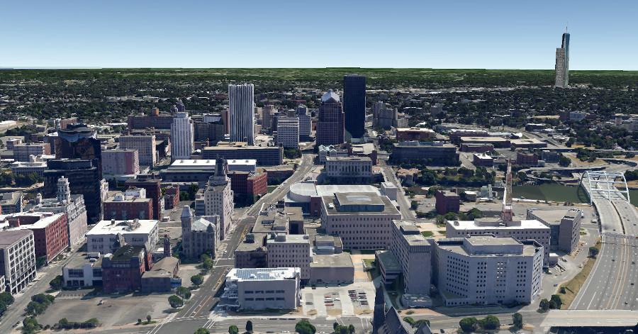 New Wegmans Development from Downtown