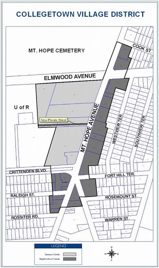 Collegetown Village Map