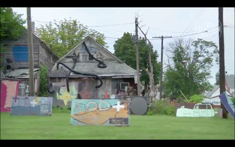 Once a drug infested neighborhood. Now a great big art experiment –the Heidelberg Project.